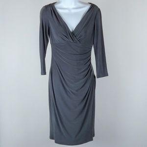 Lauren Ralph Lauren beautiful gray dress